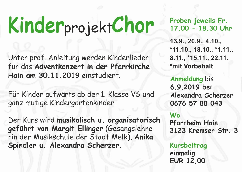 Kinderprojektchor